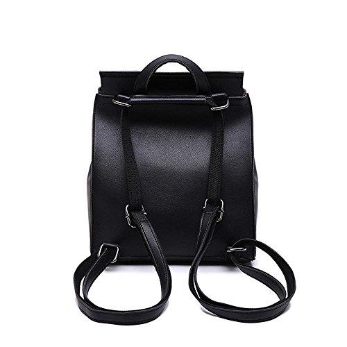 clocharde centrale dos de mode fille de bandoulière Peau sac double d'unité vent à sac à A Aoligei Collège vqFx8Ewt