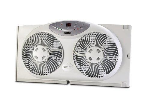 Bionaire Twin Window Fan W/ Remote Control Programmable Digi