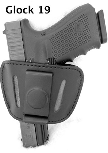 - DTOM Premium LEATHER (not synthetic) Universal IWB or OWB Ambidextrous Belt SLIDE Holster