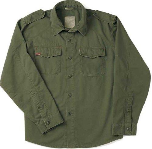 (Rothco Vintage BDU Shirt, Olive Drab, Large)
