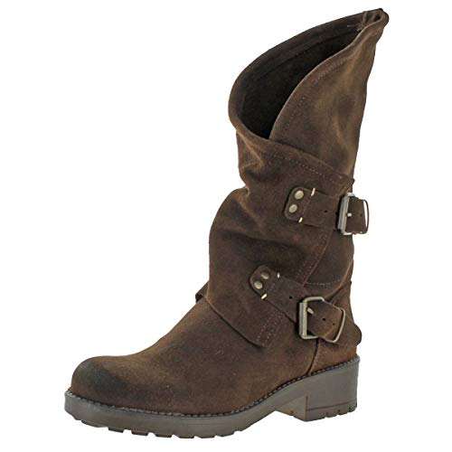Coolway Alida - Brown Suede Slouchy Dual Buckle Boot - Size: 36