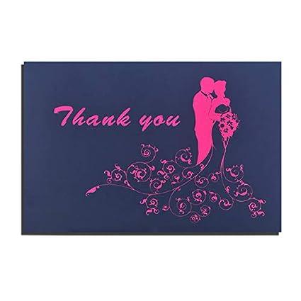 Tarjetas de agradecimiento para boda, diseño de yetibee ...