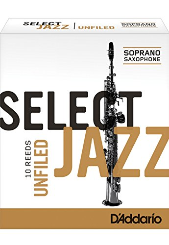 Rico Select Jazz Soprano Sax Reeds, Unfiled, Strength 2 Soft, 10-pack
