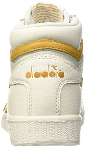 Diadora Game L High Waxed, Scarpe Low-Top Unisex – Adulto Bianco (Bianco/Beige Farro)