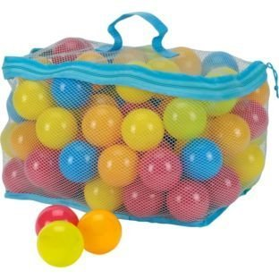 Dynamic 100 Multi Coloured Play Balls With Net Carry Bag