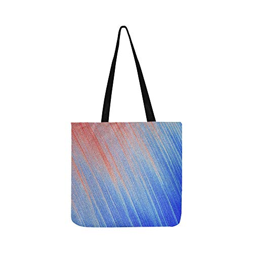 Texture Sparkling Metallic Blue Red Canvas Tote Handbag Shoulder Bag Crossbody Bags Purses For Men And Women Shopping Tote