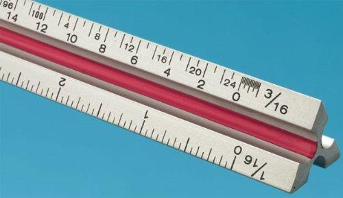T Series Aluminum Triangular Architect Scale Ruler Size: 36'' by Fairgate
