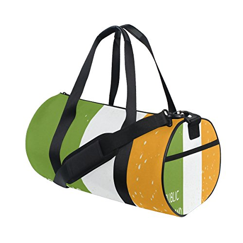 Distressed Republic Of Ireland Flag Travel Duffel Shoulder Bag ,Sports Gym Fitness Bags by super3Dprinted