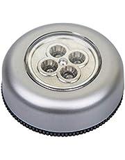 Uonlytech Bewegingssensor lichten draadloze kastverlichting op batterijen werkend nachtlampje plakken overal verlichting voor kast toilet badkamer trap muur binnen