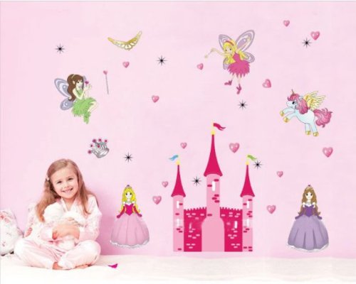 Wall Stickers Art Large Fairy Princess Unicorn U0026 Castle Home Deco Wall  Stickers: Amazon.co.uk: Musical Instruments