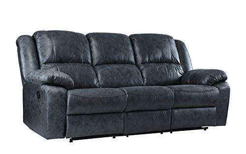 "Casa Andrea Oversize 73"" inch Air Leather Recliner Sofa (Grey)"