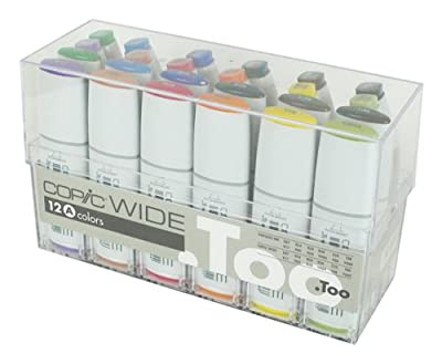 Copic Markers Wide 12 Set A and 12 matching Inks Sketch