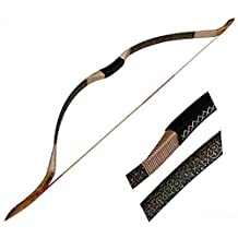 Toparchery Traditional Recurve Bow Outdoor Sports Hunting Handmade Horsebow Longbow 30-50lbs