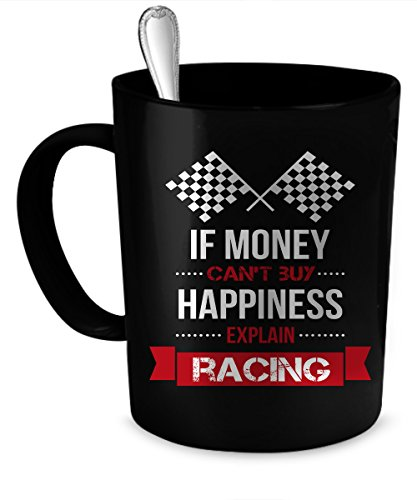 (Racing Coffee Mug 11 oz. Racing funny gift. 11 oz. black)