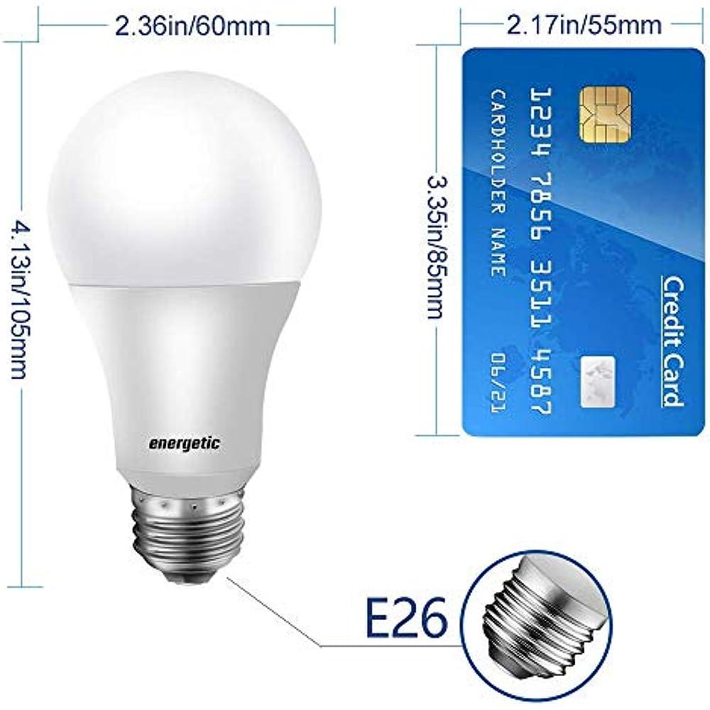 40W Equivalent A19 LED Light Bulb, Warm White 3000K, E26 ...