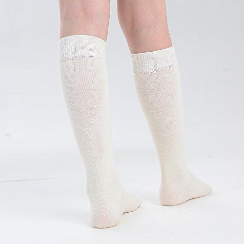3 Coton Et Chaussettes Couleurs Uk Tailles Eesa amp; Paires Hautes Adam Fille Bébé De Pour En Crème 5 qw8EAWnP