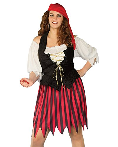 [Plus Size Pirate Costume Theatre Costumes Buccaneer 4 Piece Set Sizes: One Size] (Plus Size Sexy Pirate Costumes)