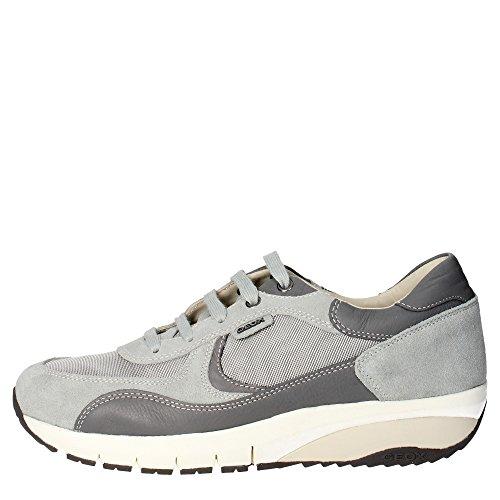 Geox U5234B 02214 Sneakers Uomo Camoscio/tessuto Grigio Grigio 39