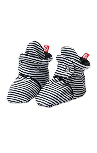 Zutano Unisex-Baby Newborn Candy Stripe Booties, Black, 3 Months - Preemie Booties