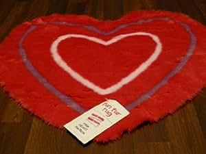 Niños de la alfombra peluda Corazón 75 cm x 75 cm
