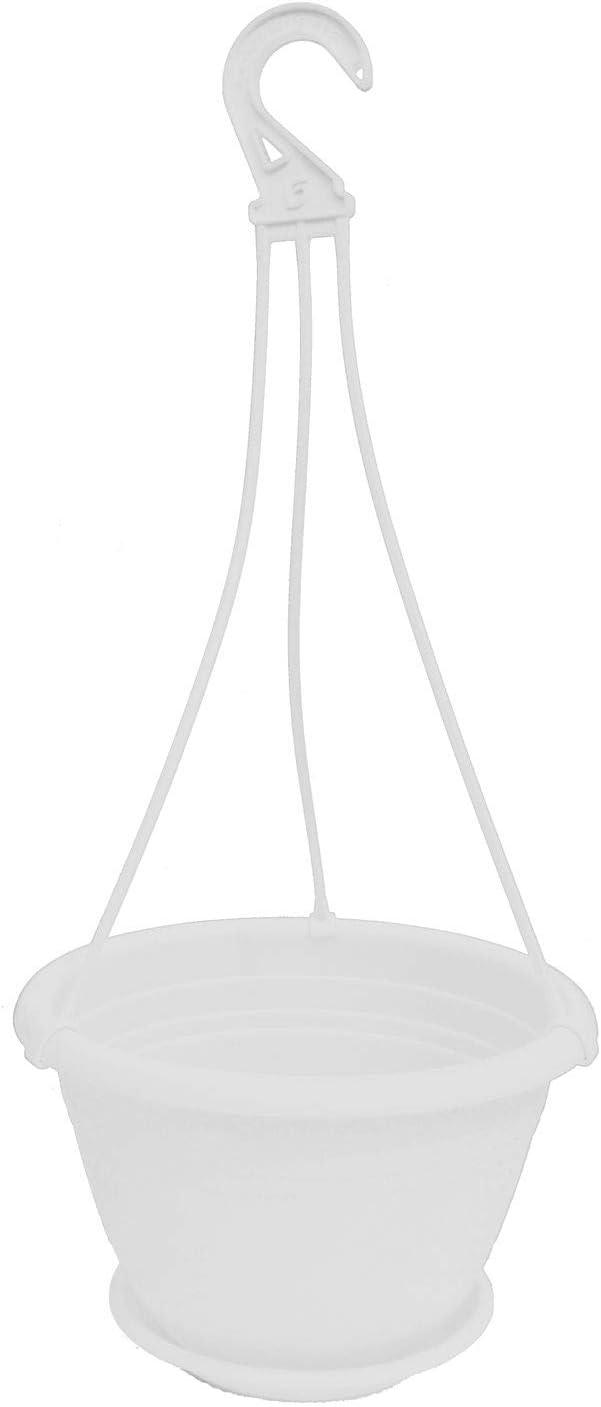D 30 x H 19 cm Pflanzen-K/ölle H/ängeampel Galicia Kunststoff mit Aufh/ängung und Untersetzer