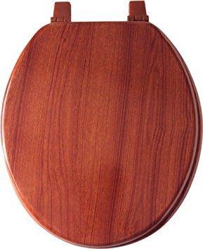 Home Dynamix VWO-207 Veneer Wood Toilet Seat, 17-Inch, Cherry