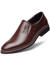 DADAWEN Men's Slip-On Fashion Business Dress Shoes