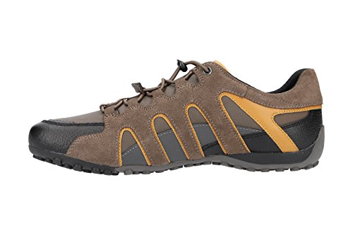 good selling for sale buy cheap fashionable Geox Men's Uomo Snake a Low-Top Sneakers Brown (Taupe/Ochreyellow Cq62p) wDLz57C