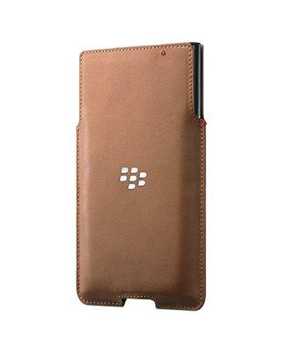BlackBerry Leather Pocket Case for BlackBerry PRIV - Retail Packaging - Tan