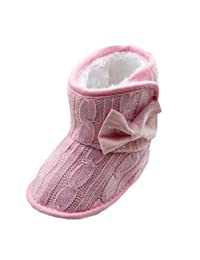 Changeshopping Toddler Baby Girls Bowknot Soft Sole Winter Warm Shoes Boots