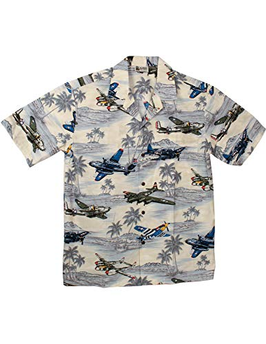 (Aloha Republic WWII 1940's Flights Over The Pacific Theater Camp Shirt)