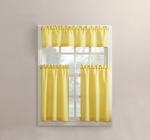No. 918 Martine Microfiber 3pc Kitchen Curtain Set, 54