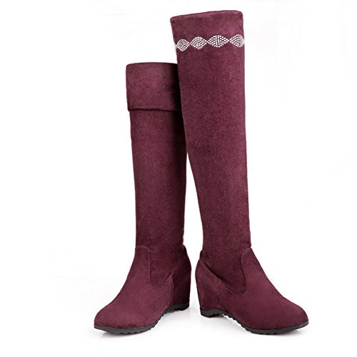 1TO9 Girls Heighten Inside Glass Diamond Pull-On Frosted Boots Red n22FHH