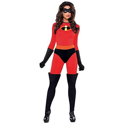 Party City The Incredibles Mrs. Incredible Halloween Costume for Women, with Included Accessories