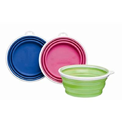 Bamboo Silicone Pop-Up Travel Bowl, Colors Vary