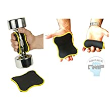 ADVANCE GRIP - Multi Purpose Fitness Lifting Double Sided NEOPRENE Grips Gloves 1 Pair Weight Lifting Training Glove Workout Gym Palm Exercise Gloves Men & Women Grip Pad
