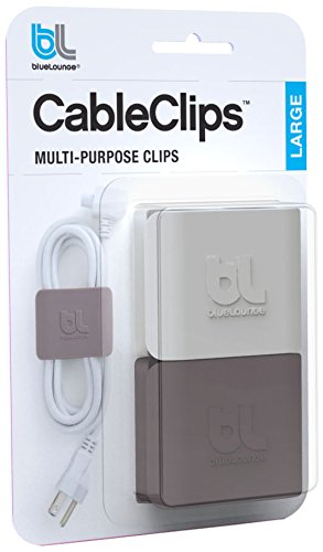 Superior Bluelounge CableClips Large   Cable Management System   Grey U0026 White Nice Look
