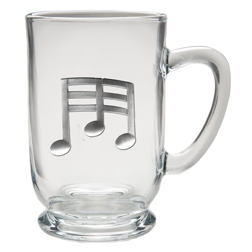 Pewter Music - 1pc, Pewter Music Note Coffee Mug, Clear