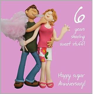 6th Wedding Anniversary Card