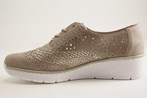 Rieker - Zapatos de vestir para mujer gris