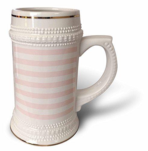 Blush Coffee (3dRose TDSwhite – Patterns Designs - Blush Pink White Stripes Horizontal - 22oz Stein Mug (stn_285186_1))