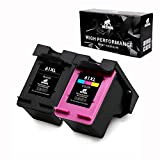 IKONG Ink Cartridge 63 Remanufactured Ink cartridges Replacement for HP 63 Ink with Ink Level Display, 63XL (1 Black & 1 Tri-Color) Work with Envy 4520 4516 4655,OfficeJet 4650 3830,DeskJet 2130 3634
