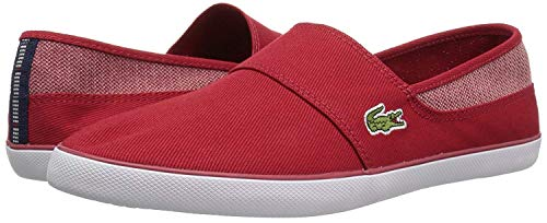 Lacoste Men's Marice Sneaker red Canvas 8 Medium ()
