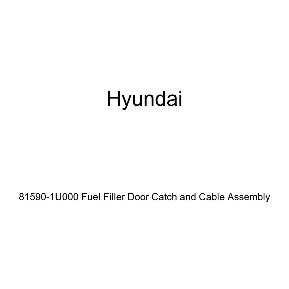 Genuine Hyundai 81590-1U000 Fuel Filler Door Catch and Cable Assembly