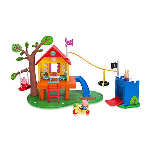 Jazwares Peppa Pig#039s Kids Toys Treehouse and George#039s Fort Playset
