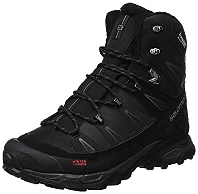Salomon Men's X Ultra Winter Cs Waterproof Snow Boot, Black/Black/Autobahn, 8.5 M US