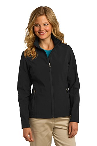 Women Port (Port Authority Women's Core Soft Shell Jacket L Black)