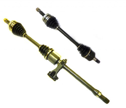 DTA HY22732274A front Left Right Pair - 2 New Premium CV Axles (Drive Axle Assembly) Fits 2006-2010 Hyundai Azera, Sonata V6 Only. Passenger Side includes Carrier Bearing and Bracket