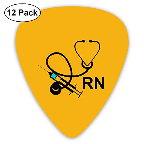 Unique Designs Guitar Picks - Registered Nurse Symbol Wallpaper Guitar Picks -Premium Music Gifts & Guitar Accessories For Son-12 Pack
