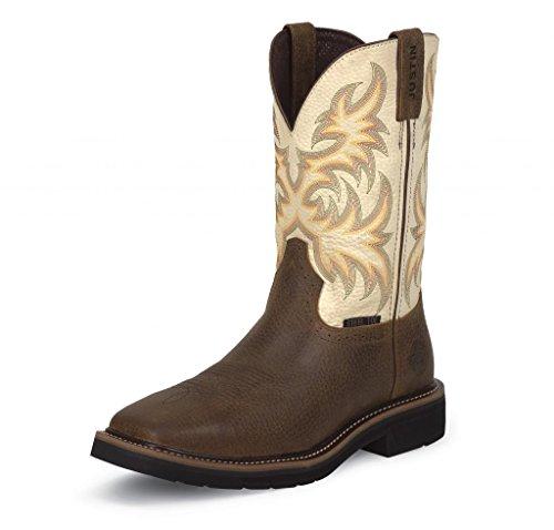 Justin Boots Logger (Justin Original Work Men's Stampede Steel Toe, Copper Kettle Cowhide, 9.5 EE US)